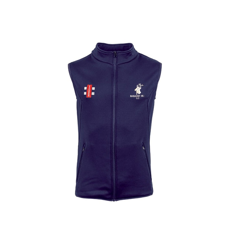 GRAY NICOLLS SENIOR BUCKHURST HILL CC STORM FLEECE BODY WARMER