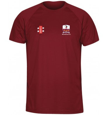 Gray Nicolls Brentwood CC SENIOR Matrix Tee Shirt in Maroon