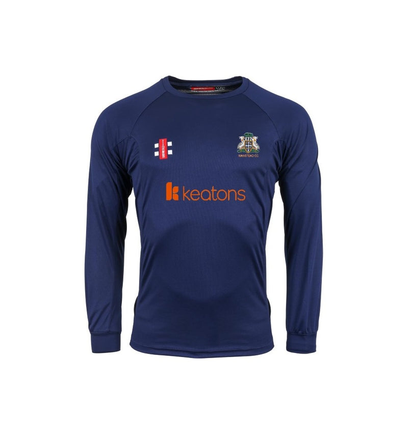 GRAY NICOLLS SENIOR WANSTEAD CC MATRIX LS T-SHIRT NAVY