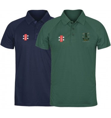 GRAY NICOLLS WOODFORD GREEN JUNIOR MATRIX POLO SHIRT