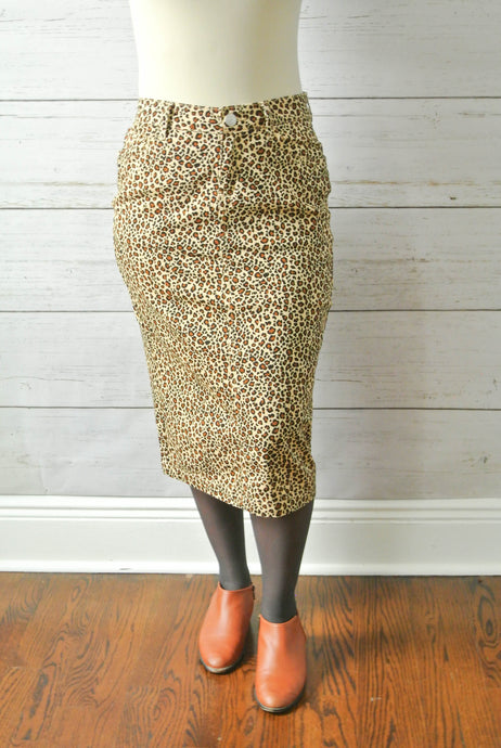 Leopard denim skirt - MODESTALINDA