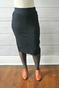 Navy Blue denim skirt - MODESTALINDA
