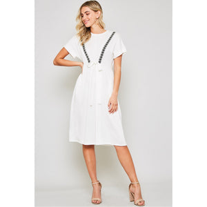 White flutter dress - MODESTALINDA