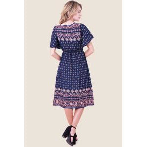 Blue flutter dress - MODESTALINDA