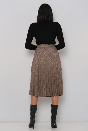 Pleated Tan skirt