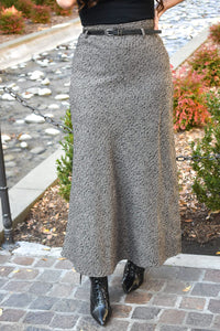 Long Wool Skirt - MODESTALINDA