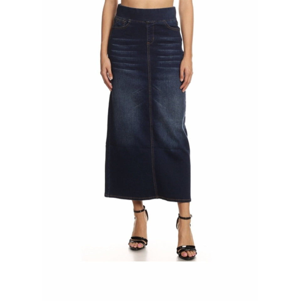 Long denim skirt - MODESTALINDA