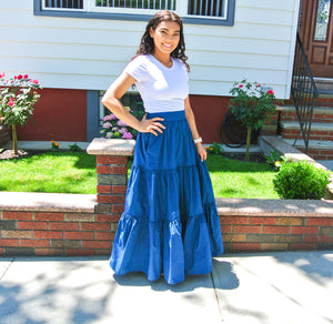 Long Ruffled Skirt