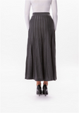 Long grey sweater skirt - MODESTALINDA