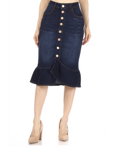 Jenna denim skirt