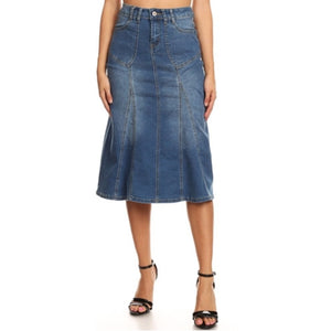 Stretch denim skirt - MODESTALINDA