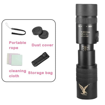 4K 10-300X40mm Super Telephoto Zoom Monocular Telescope(Official Only Designated Store) - Buy 2 Free Shipping