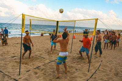 (Last stock &Hot sale) Cross volleyball net