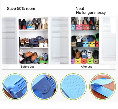 Easy Magic Shoes Organizer-Double your shoe storage space in a snap! (5 pcs in one package)