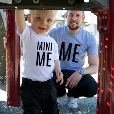 Letter Print Short Sleeve Father Son Matching T-Shirt - ME & MINI ME