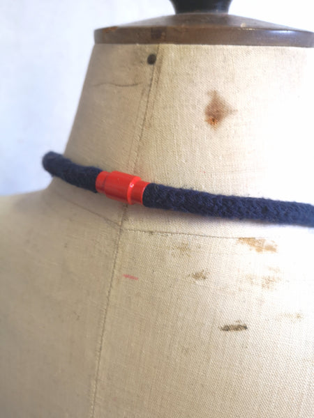 Industrial Felt, Wood and Rope Necklace - Bretton