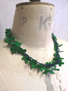 Flower Confetti Necklace Emerald
