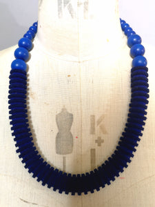 Vertebrae Necklace in Blue
