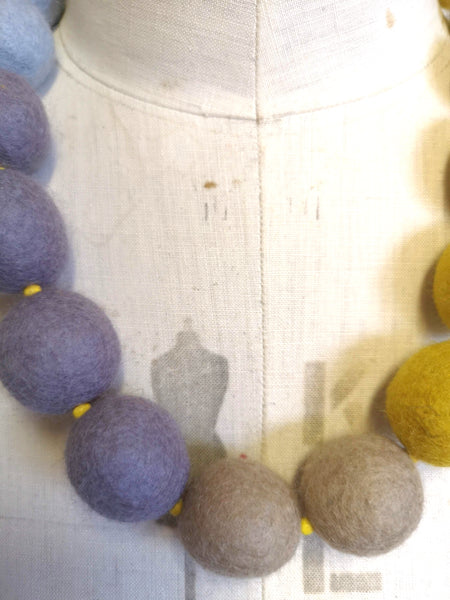 Ombre Merino Beads Mustard and Grey