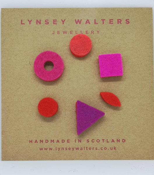 Mix 'n' Match Earrings Scarlet & Pink