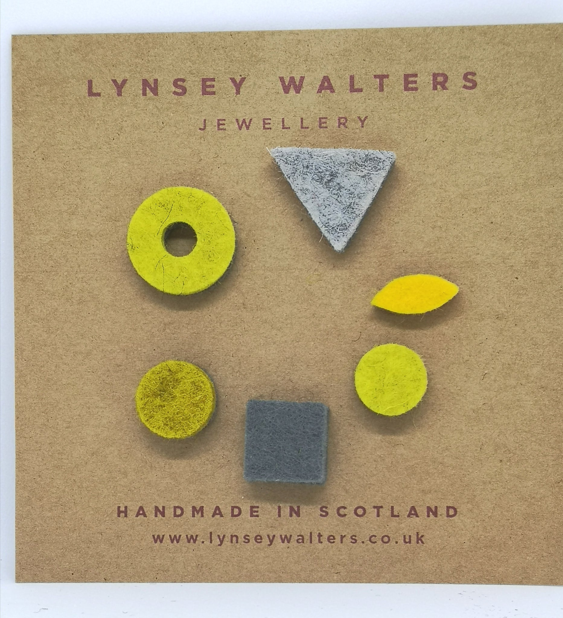 Mix 'n' Match Earrings Mustard & Grey