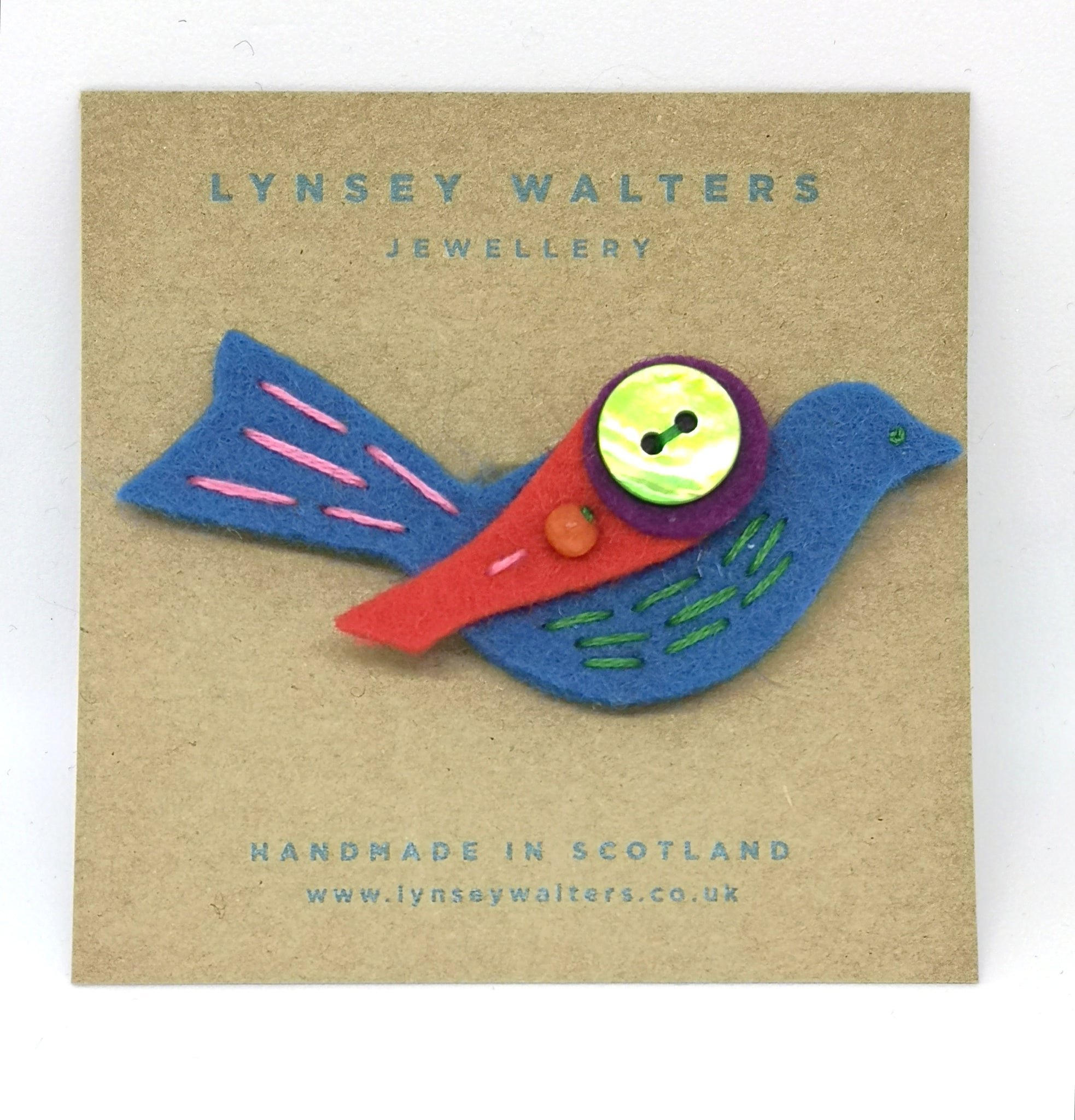 Little Birdy Brooch, Multi Colour