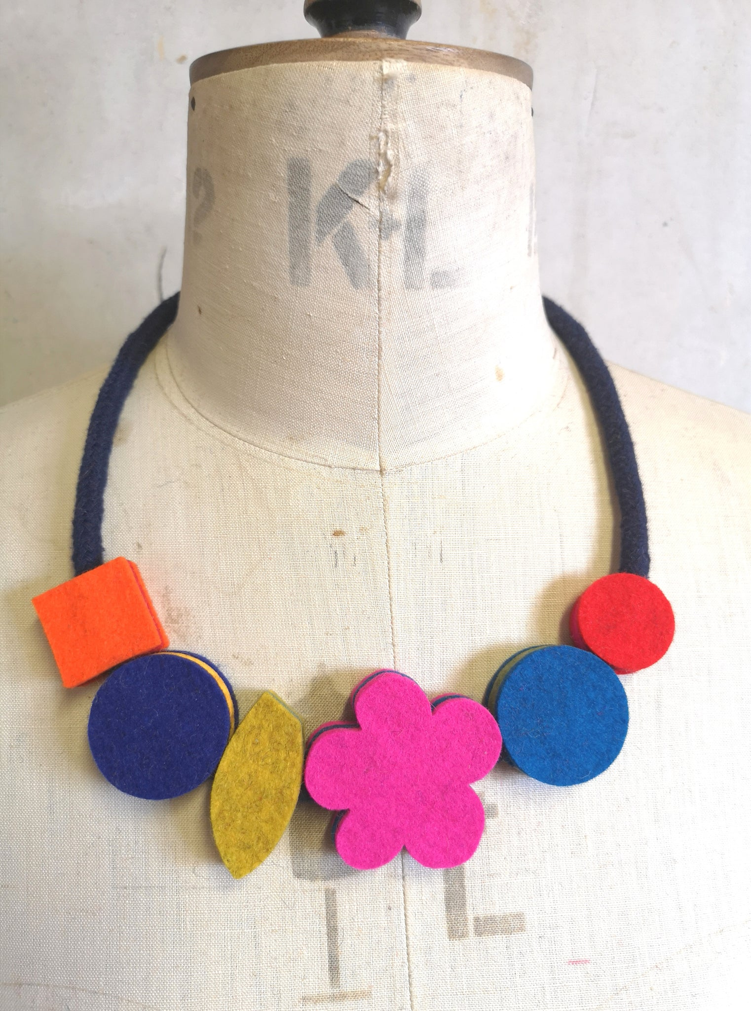 Pop Flower Necklace Multi Colour
