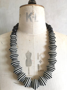 New Wave Necklace in Black & White