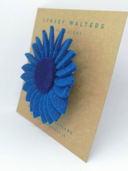 Retro Daisy Brooch - Teal