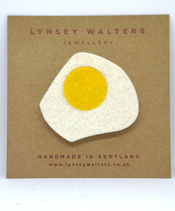 Fried Egg Brooch