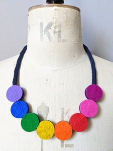 Industrial Beads Necklace - Rainbow