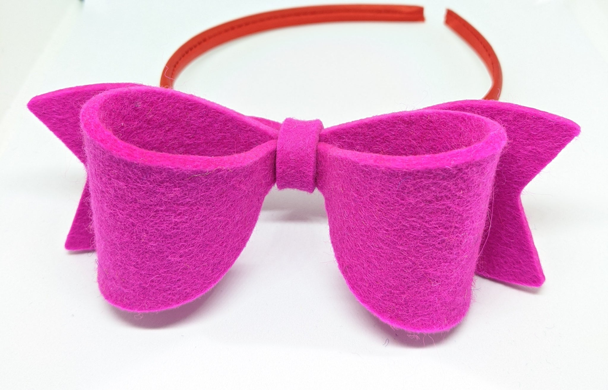 Bow Hairband - Neon Pink