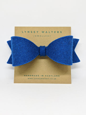 *NEW Bow Crocodile Clip - Teal