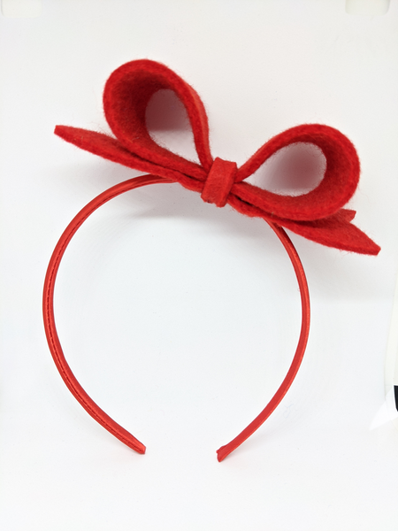 Bow Hairband - Scarlet