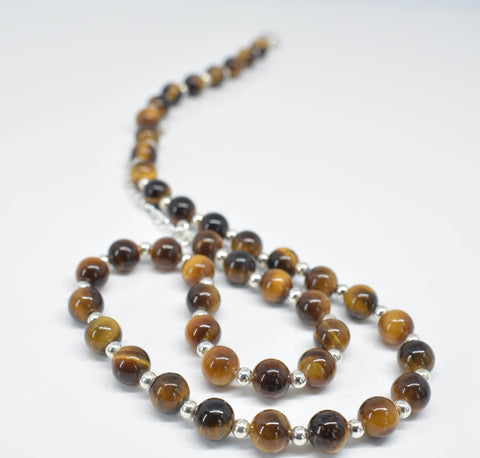 Handmade Tiger Eye Necklace - Pixi Daisy