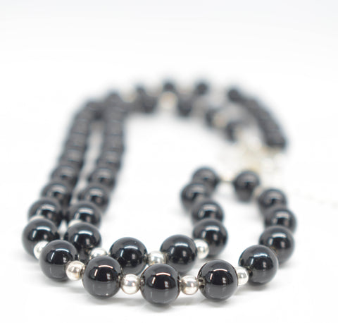 Handmade Black Onyx Necklace - Pixi Daisy