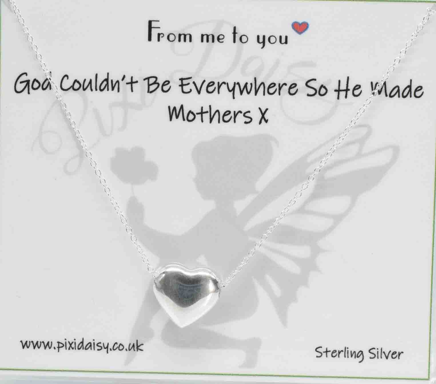 God Made Mothers Sterling Silver Sentiment Necklace - pixi-daisy