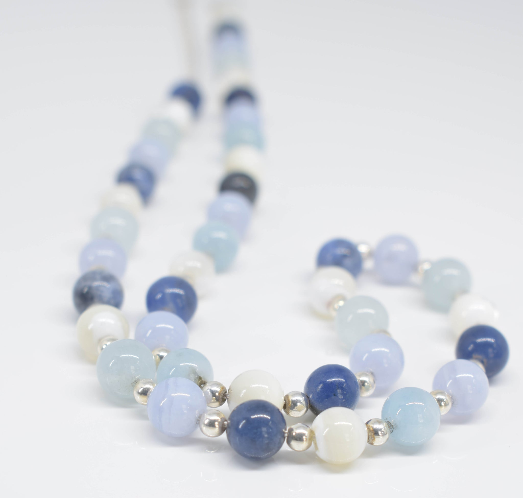 Handmade Mixed Blues Necklace - Pixi Daisy