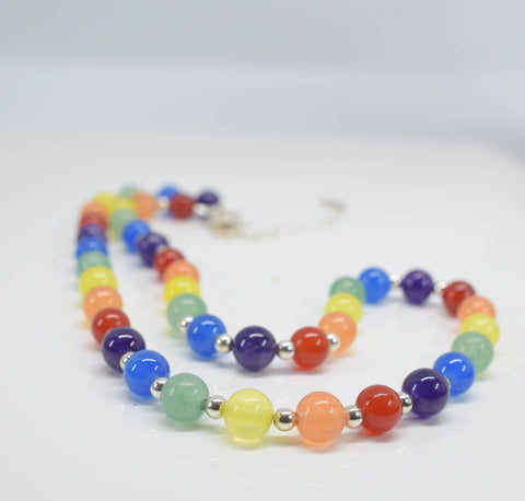 Handmade Rainbow Necklace - Pixi Daisy