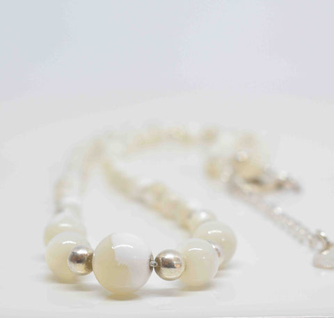 Mother of Pearl Necklace - Pixi Daisy