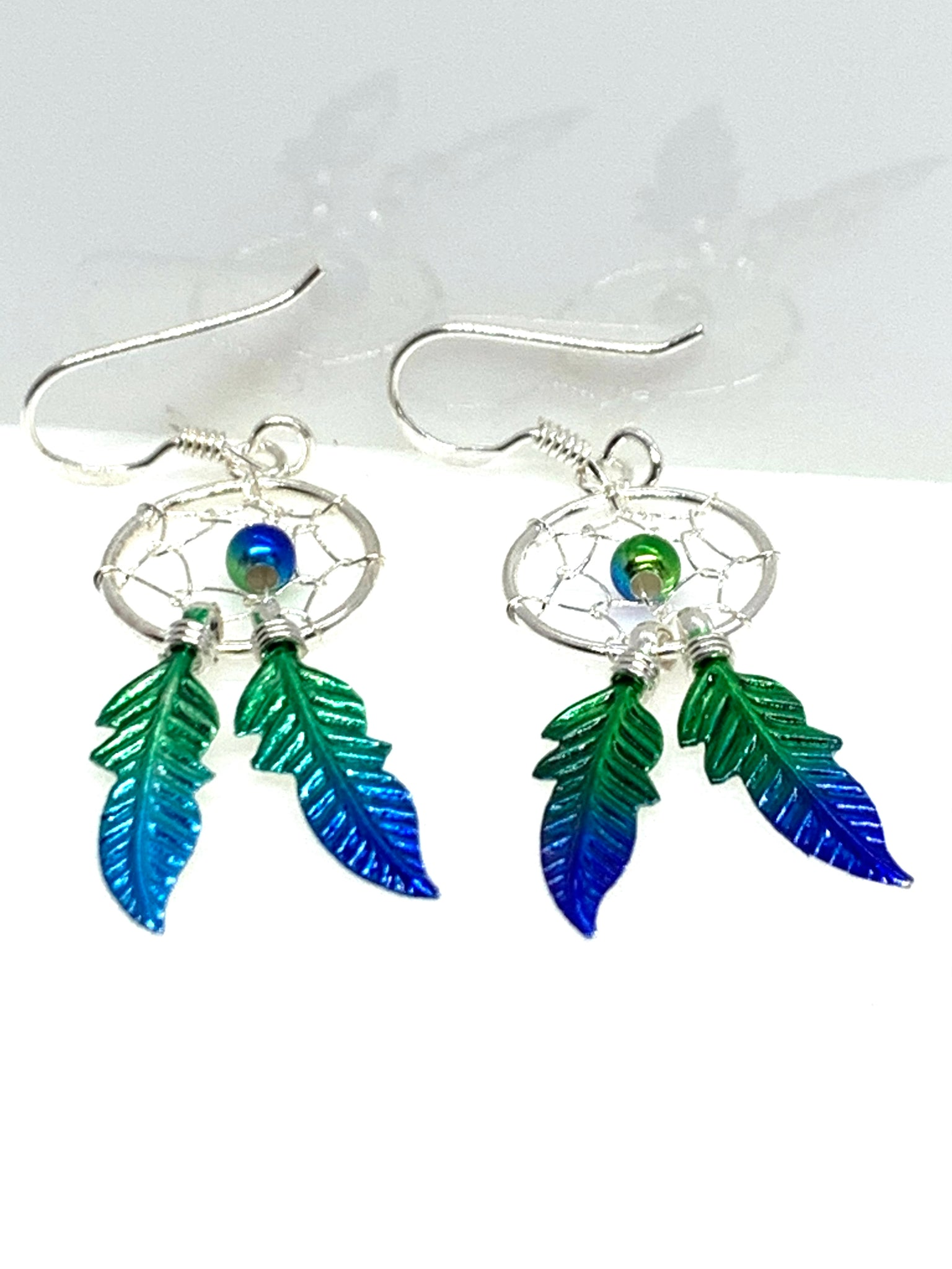 Turquoise & Green Dreamcatcher Earrings - pixi-daisy