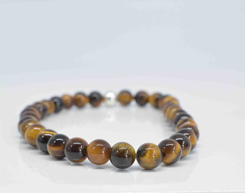 Men's Tiger Eye Bracelet - Pixi Daisy