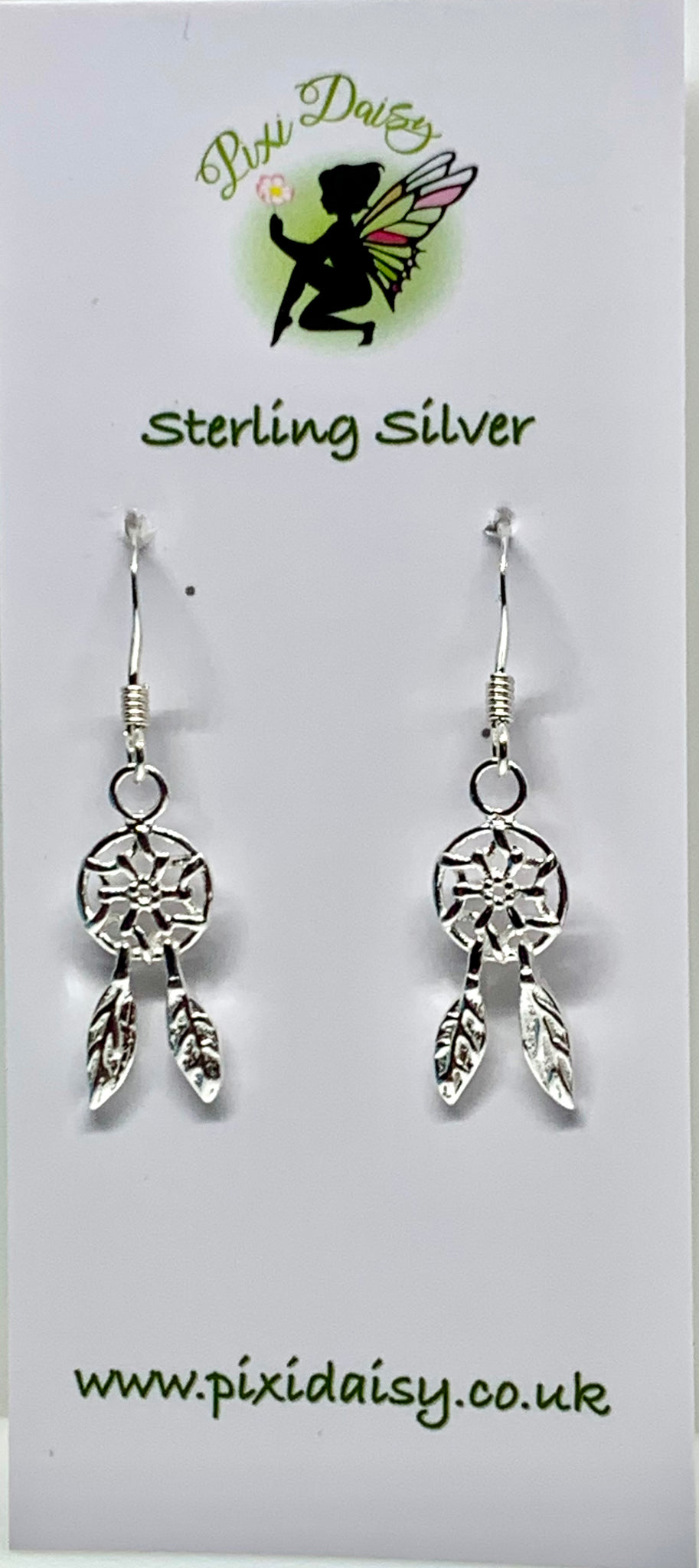 Silver Dreamcatcher Earrings from Pixi Daisy