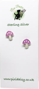 Children's Mushroom Ear Studs from Pixi Daisy