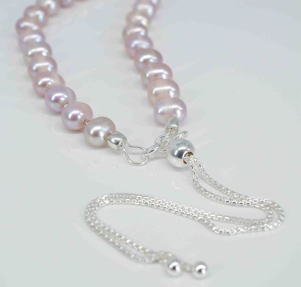 Handmade Pink Freshwater Pearl Necklace