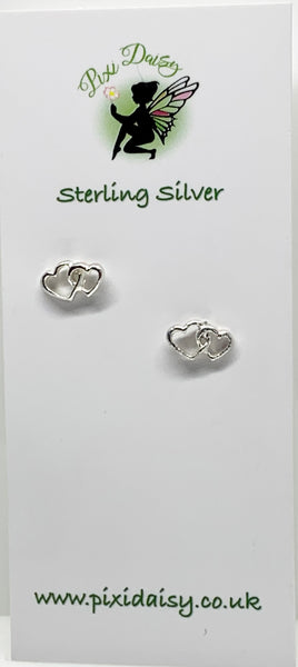 Silver Entwined Hearts from Pixi Daisy