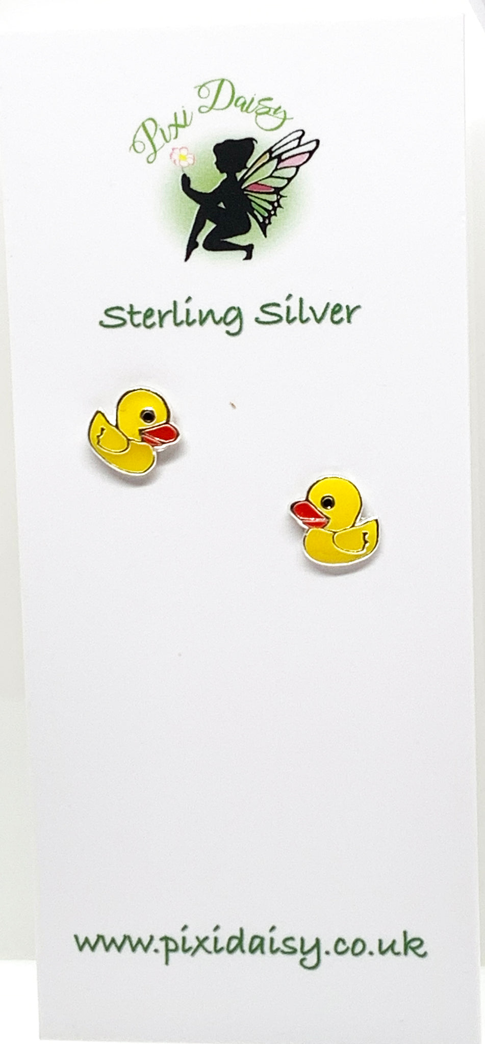 Yellow Duck Ear Studs