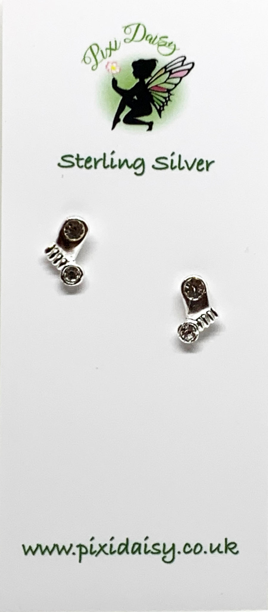 Silver Feet Ear Studs from Pixi Daisy