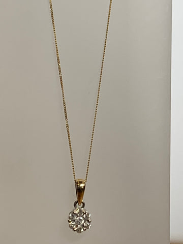 Daisy  Gold 0.25ct Diamond Necklace - pixi-daisy