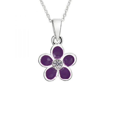 Children's Purple Flower Necklace - pixi-daisy